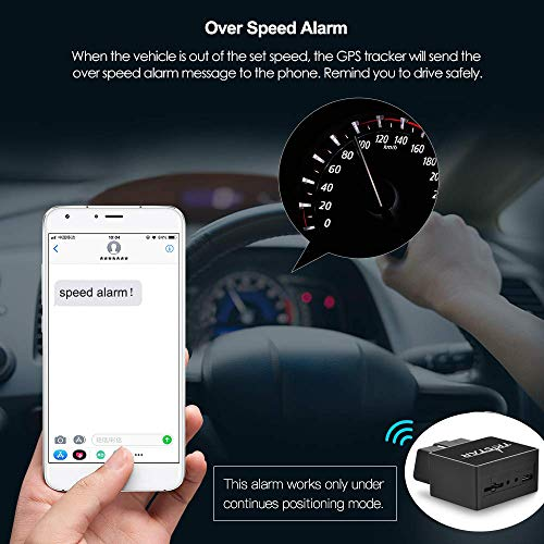 TKSTAR OBD Car GPS Tracker,Vehicle Real Time Tracking Device Teen Driving  Coach, Vehicle GPS Anti-theft Fleet Moitoring System Free APP Support IOS &