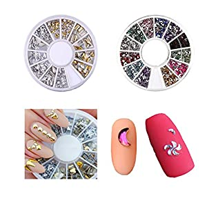 LoveOurHome Nail Art Tools Equipment Nail Stamping Templates Plate Rhinestones Decorations Dotting Pen Sticker Decal Manicure Kits (Style B)