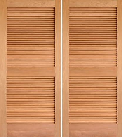 Interior Door Mahogany Louver Double - AAW Doors Inc.