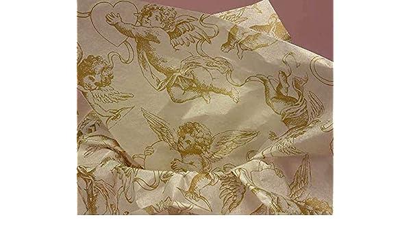 Gold Cherub Tissue Paper # 529~10 Large Sheets