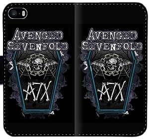Avenged Sevenfold caja del cuero C1C3U Funda iPhone 5C funda protectora del teléfono DIY o32FUo funda del caso del tirón