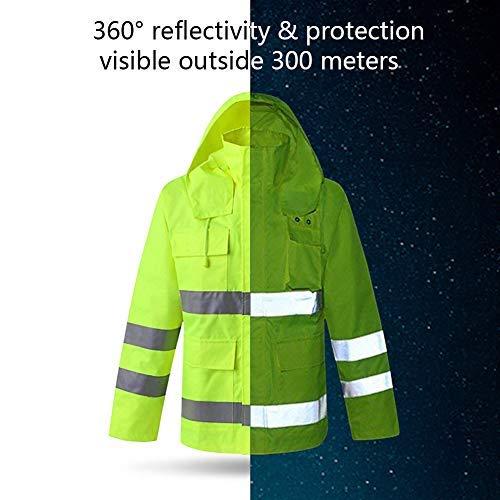 XIAKE SAFETY Class 3 Hi-Vis Reflective Rainwear Breathable Windproof Waterproof Antifouling, ANSI/ISEA Compliant,Yellow (3X-Large, YELLOW) by XIAKE (Image #2)