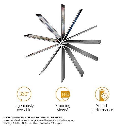 HP ENVY x360 15-inch Convertible Laptop, Intel Core i7-8550U, 8GB RAM, 256GB solid-state drive, Windows 10 (15-aq210nr, Silver)