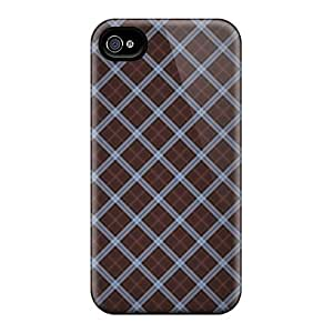 Awesome Fractal Losanges Flip Case With Fashion Design For Iphone 4/4s