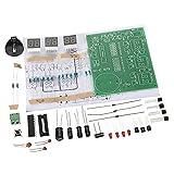 Fityle 6 Digit LED Digital Alarm Clock Kits DIY Electronics Soldering Practice Set
