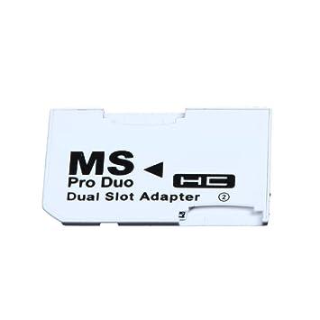 amazingdeal365 adaptador de doble tarjeta de ranura para ...