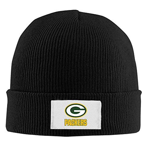 Creamfly Adult Green Bay Football Team Wool Watch Cap (Skully And Green Demon)