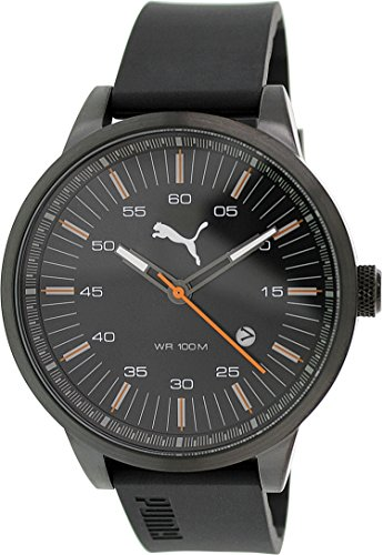 Puma Men's PU103641003 Black Silicone Analog Quartz Watch