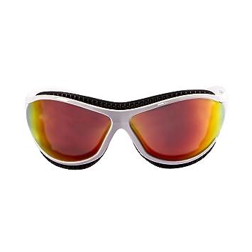 Ocean Sunglasses Tierra de Fuego - Gafas de Sol polarizadas - Montura : Blanco Mate - Lentes : Amarillo Espejo (12201.3): Amazon.es: Deportes y aire libre