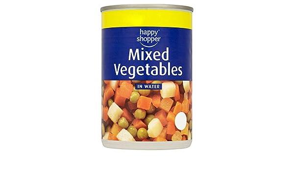 Happy Shopper verduras mixtas en 300 g de agua (escurrido 195 g de peso) (paquete de 12 x 300 g): Amazon.es: Alimentación y bebidas
