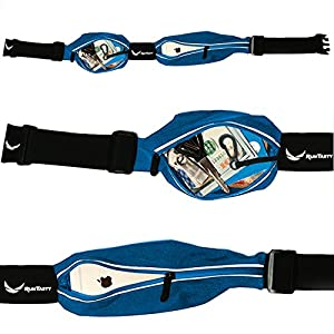 [Voted #1 Running Belt] The Runtasty Runners Fanny Pack for iPhone 6, 7, 7 Plus & Android Samsung. No Bounce, Waterproof, Dual Pocket, Fitness & Travel Belt! Sleekest, Most Durable in the World!