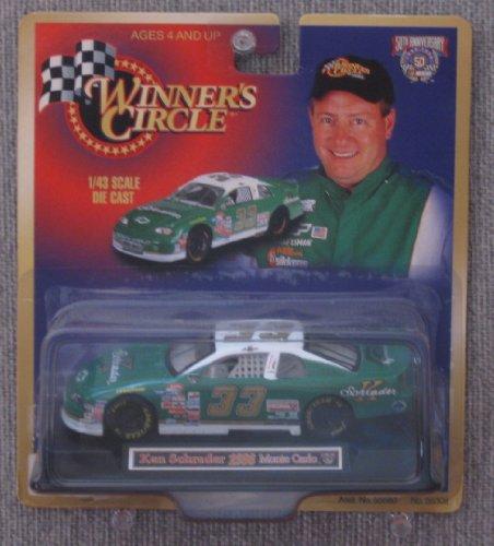 Winners Circle NASCAR #33 Ken Schrader 1998 Monte Carlo 1:43 Scale Die Cast Car