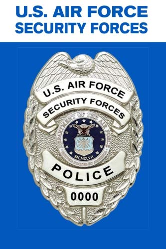 Air Force Security Forces Police: Security Forces Badge, Sentries, K-9, and Law Enforcement - Composition Notebook Journal Diary, College Ruled, 150 pages - Security Forces Badge