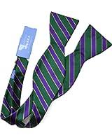 Mara By Countess Mara Mens satin stripe neck bow Tie