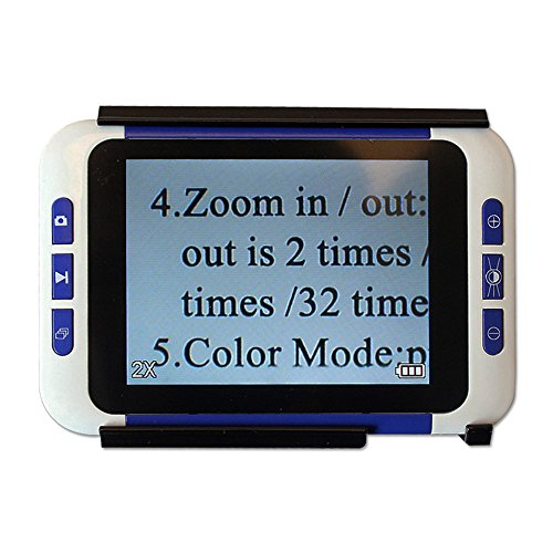 Eyoyo 3.5 inch Handheld Portable Video Digital Magnifier Electronic Reading Aid with Multiple Color Modes (3.5 inch 2x to 32x)
