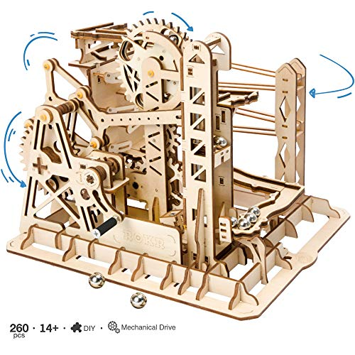 ROKR Mechanical Construction Model Kit - Lift Coaster - 3D Puzzle Building - Hobby Gift for Boys and Adults (Lift Coaster) from ROKR