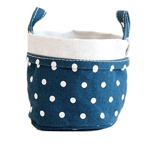 maika BUC-1012-S Canvas Bucket, Small, Navy -