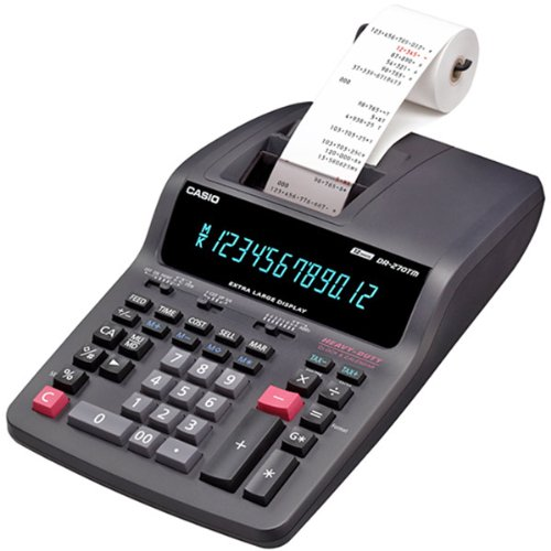 Casio Heavy-Duty 12-Digit Printing Calculator with 2-Color Printing and Extra-Large Display