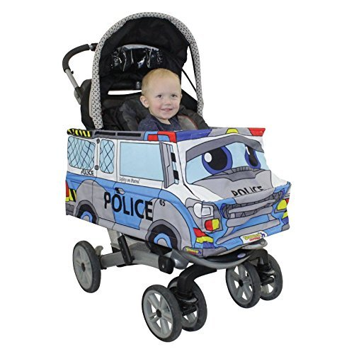 Police Car Stroller Costume Turns Stroller Into a Ride on Baby/Toddler Car Toy ()