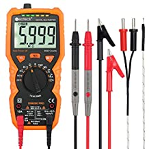 Multimeters Neoteck 6000 Counts Auto Ranging AC/DC Digital Multimeters with NCV True RMS Voltage Current Resistance Temperature Capacitance Multi Testers for School Laboratory Factory and other Social Fields