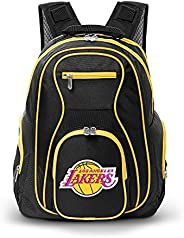 NBA Los Angeles Lakers Colored Trim Premium Laptop Backpack