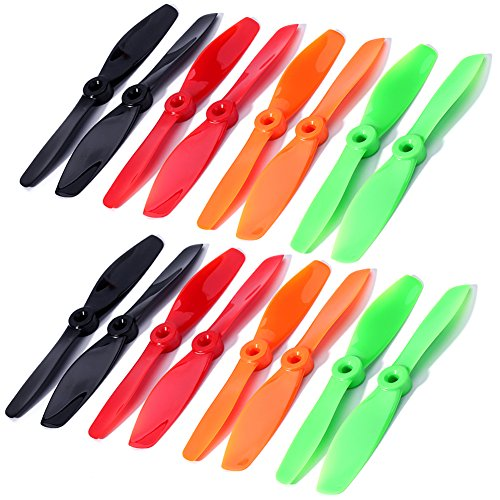 DYS Series BN5045 FPV High End Propellers 54.5 CW CCW Propeller For RC Drone Racing Quadcopter DIY Hi-Performance for 200, 210, 250, 280 frame etc (8 Pairs=16pcs Green)