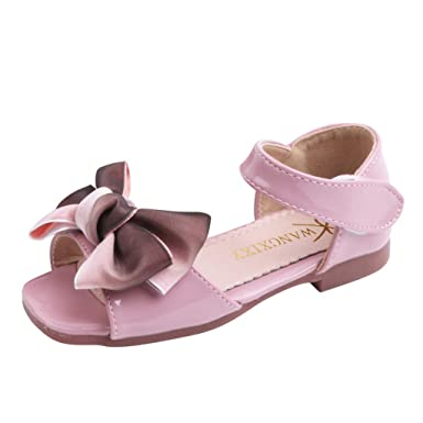 9f314e67a9 Amazon.com: Lurryly Sandals for Girls,Toddler Infant Kids Baby Sweet ...