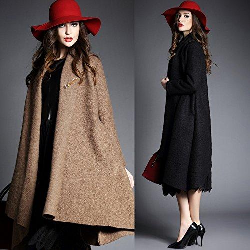 Dressvip Para Abrigo Dressvip Para Mujer Negro Abrigo Mujer raXnrW81