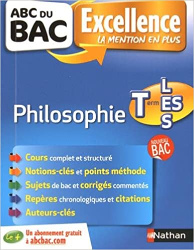 Ebooks pour iPhone téléchargement gratuit ABC du BAC Excellence Philosophie Term L.ES.S PDF 2091892742