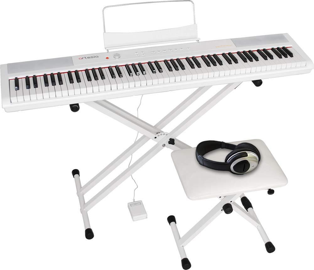 品質保証 Artesia (電子ピアノ) アルテシア ホワイト デジタルピアノ (電子ピアノ) セット 88鍵 ベロシティセンシティビティキー PERFORMER/WH PERFORMER/WH ホワイト (サスティンペダル/スタンド/椅子/ヘッドフォン付属)ホワイトB07KPN9KQ3, 感謝の声続々!:ccdb6b92 --- a0267596.xsph.ru