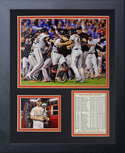 MLB San Francisco Giants 2014 World Series Champions Legends Never Die Framed Photo Collage, 11 x 14-Inch, Celebration 1