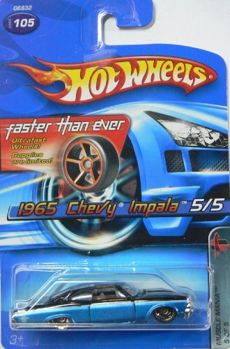 Hot Wheels 2005 1965 Chevy Impala, Muscle Mania 5 of 5, #105 Faster Than Ever ()