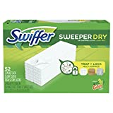 vac swiffer - Swiffer Sweeper Dry Sweeping Pad Multi Surface Refills, for Dusters Floor mop, Gain Scent, 52 Count