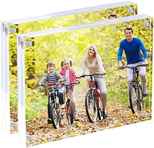 Wedo Cristallic Cadre photos acrylique avec fermeture magn/étique Transparent