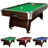 8 ft Billardtisch 'Premium', 3 verschiedene Farbvarianten, massive Ausfhrung + Zubehr (2x Queue, Kugelset, Dreieck, Kreide, Brste) Pool Billard 8 Fu