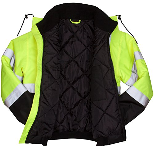Pyramex RJ3210L Safety Bomber Jacket with Quilted Lining, Green 2