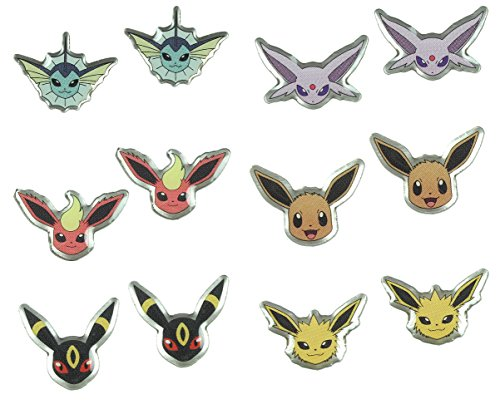 [Pokemon Eevee Evolutions Earrings 6 Pair] (Slowpoke Costume)