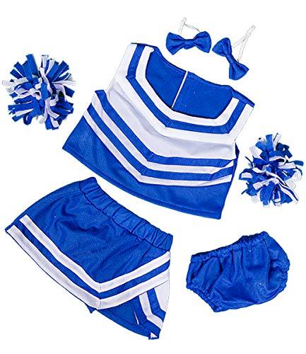 Royal Blue & White Cheerleader Uniform Teddy Bear Clothes Fits Most 14