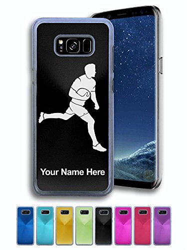 Case for Samsung Galaxy S8+ PLUS - Rugby Player - Personalized Engraving Included