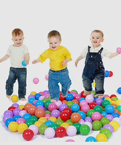 FINGOOO 2.16 Inch Phthalate Free Fun Crush Proof Balls Soft PE Air-Filled Ocean Ball Play Balls Pit Balls for Baby Kids Tunnel/Tent/Pool/Swim Jump House Pack of 200 by FINGOOO (Image #4)