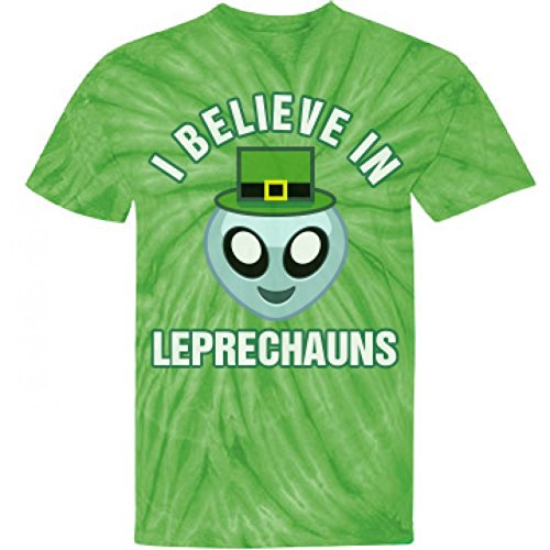 St Patty Aliens and Leprechauns: Unisex Gildan Tie-Dye Cyclone T-Shirt