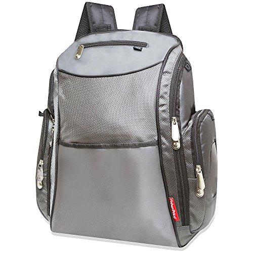 Fisher Price Backpack Diaper Bag Grey