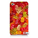 YUMMY YUM Gummy Bears Gummier Bear Bulk Candy Juicy Flavors Directly Printed On Case Apple ipod 4 Quality Hard Case Snap On Skin for ipod 4/4G (WHITE)