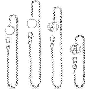 Amazon.com: 4 piezas de llavero de bolsillo con cierre de ...