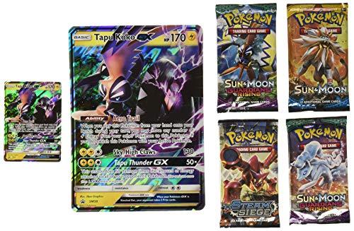 Pokemon TCG: Sun & Moon Guardians Rising Shiny Tapu Koko Premium GX Box Featuring an Oversize Tapu Koko GX Card