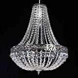 Chandelier Style Clear Acrylic Chrome Ceiling Light Shade Easy Fit Penda