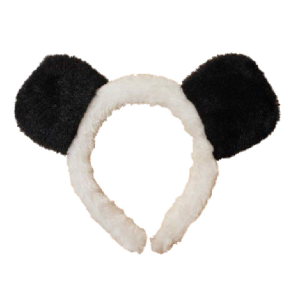 Black and White Panda Ears Alice Hair Band Headband Fancy Dress Girls Ladies UK