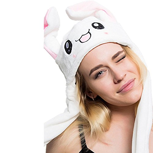 Luckygoo Cute Bunny Ears Headband Halloween Hat Move Your Ears up and Down Costume Hat Plush Hat -
