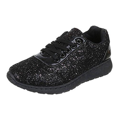 Ital-Design - Zapatillas de Material Sintético para mujer Negro - negro