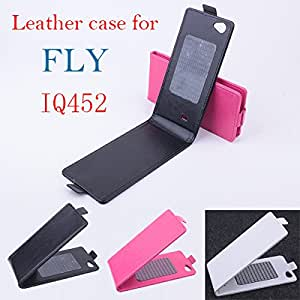 High Quality New Original FLY IQ452 Leather Case Flip Cover for FLY IQ 452 Case Phone Cover In Stock Free Shipping --- Color:White